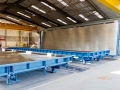 14m x 4m solid steel tiliting tables at our factory