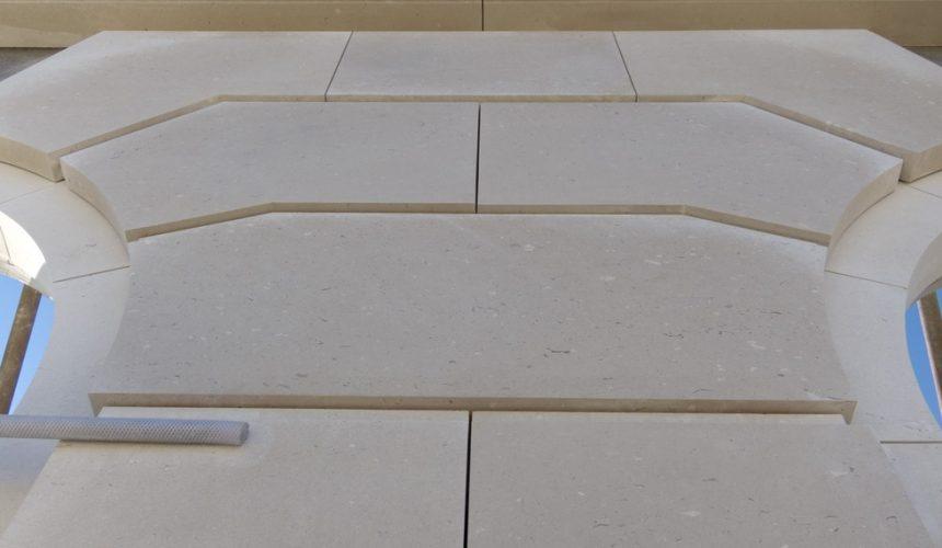Portland Stone Faced Precast Panel